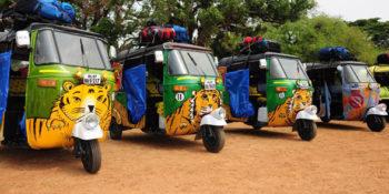 Flat out rickshaw